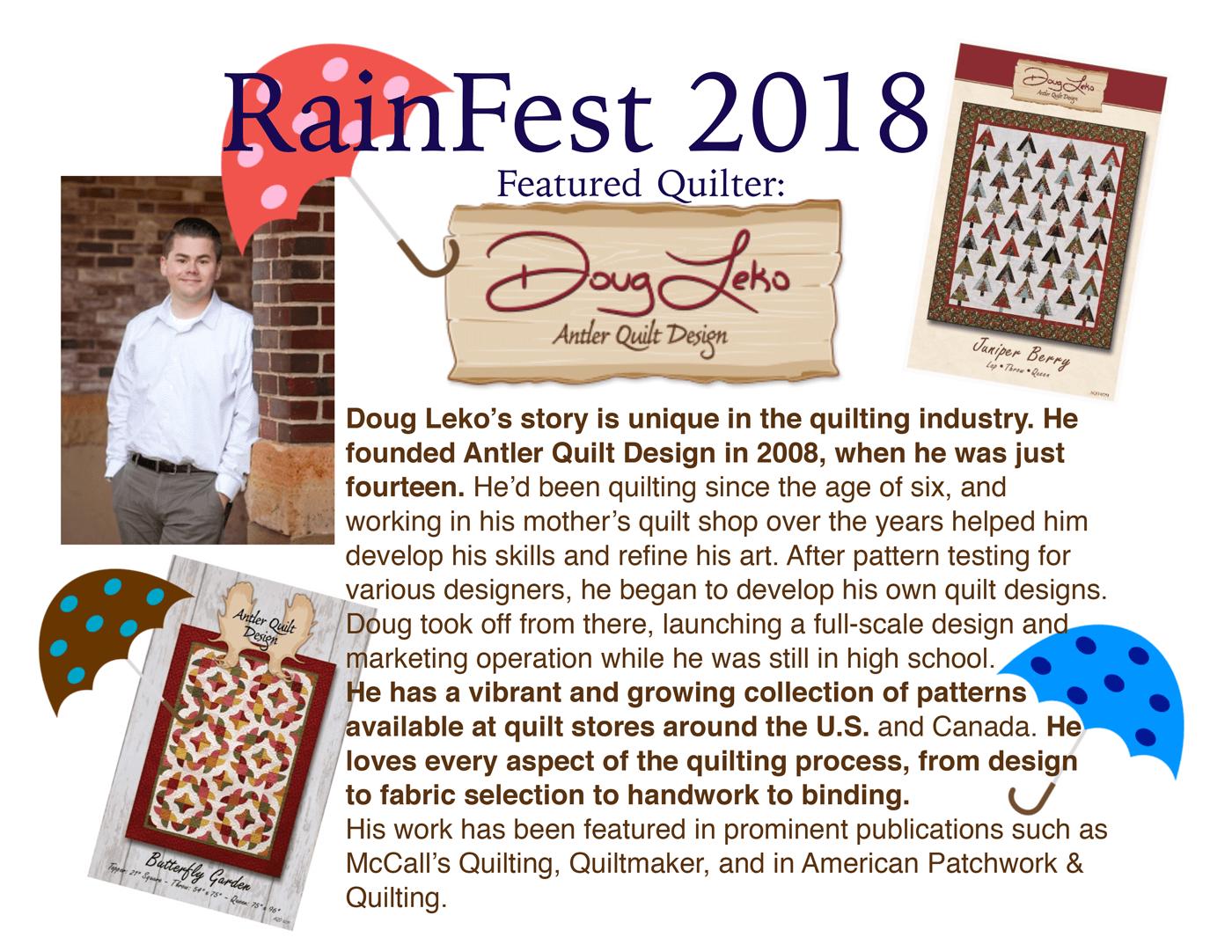 Rainfest 2018 Preview info